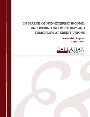 In Search Of Non-Interest Income