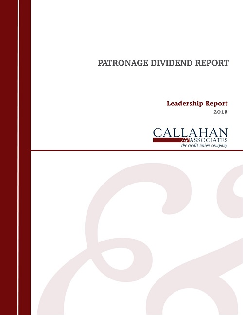 2015 Patronage Dividend Report